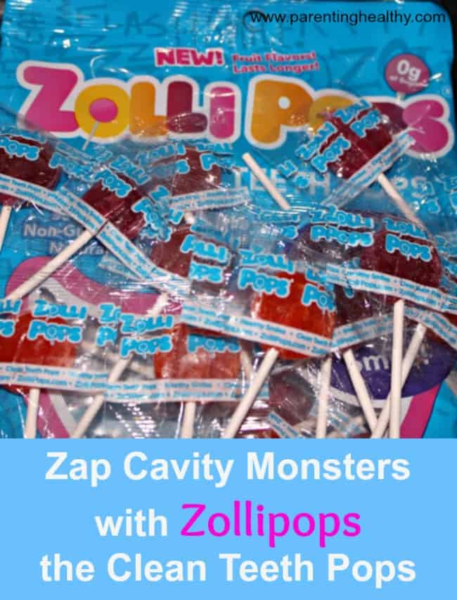 Zap Cavity Monsters with Zollipops the Clean Teeth Pops