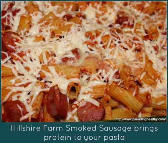 Baked Ziti with Hillshire Farms Beef Smoked Sausage  #BringHillshireHome