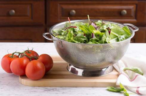 Bellemain Micro-Perforated Stainless Steel Colander #colander12