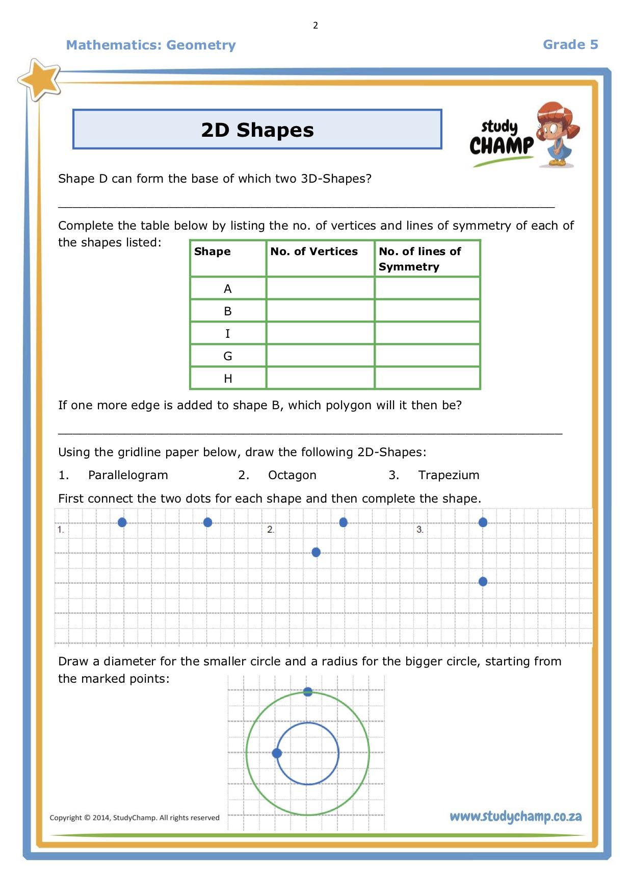2d Shapes Worksheet Page 2 Parenting Hub