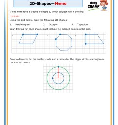 2d Shapes Grade 6 Worksheet   Printable Worksheets and Activities for  Teachers [ 1754 x 1240 Pixel ]