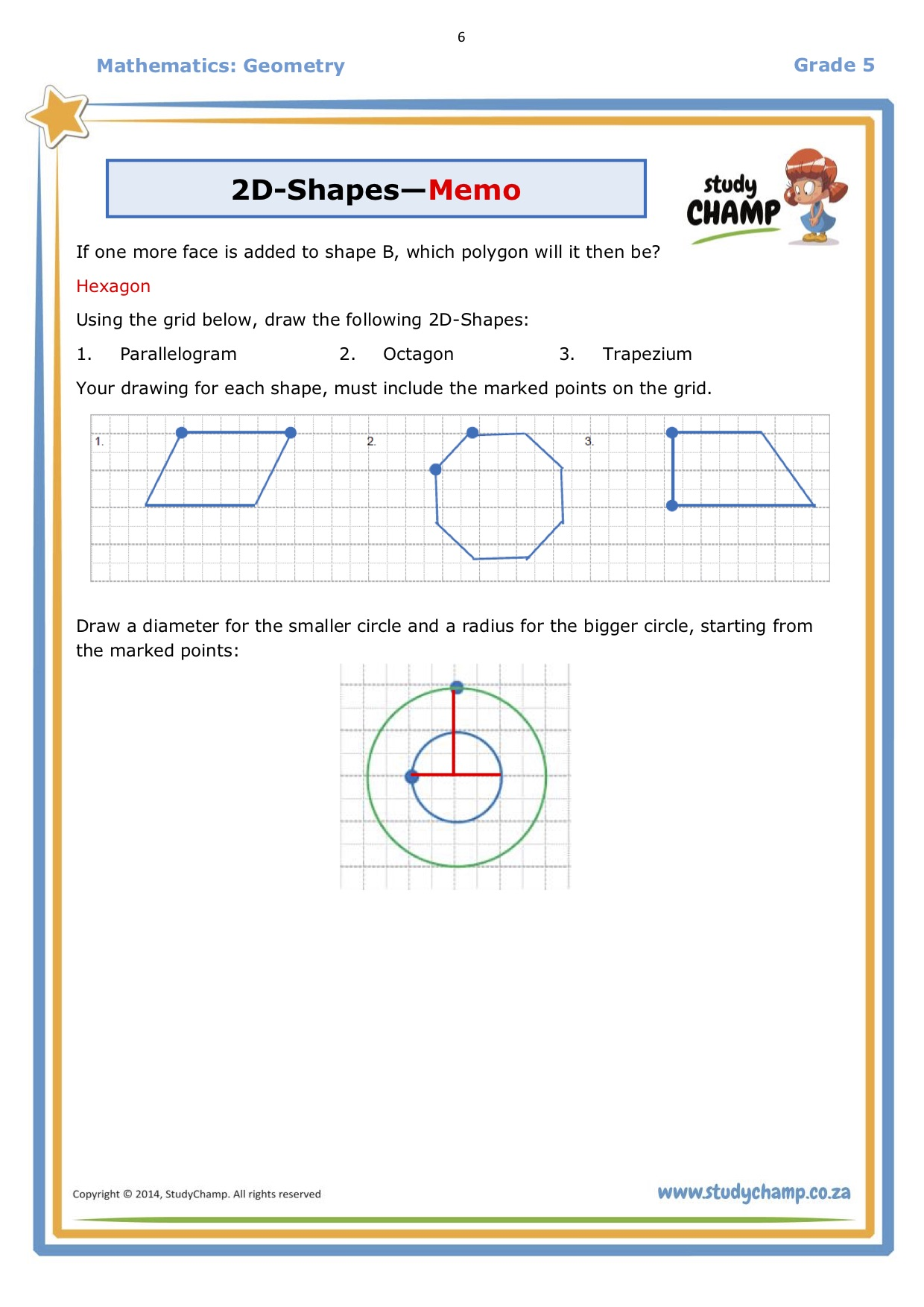 hight resolution of 2d Shapes Grade 6 Worksheet   Printable Worksheets and Activities for  Teachers