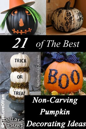 21 of the best non carving pumpkin decorating ideas 4 the love of family - Charming halloween decoration using love pumpkin carving ...