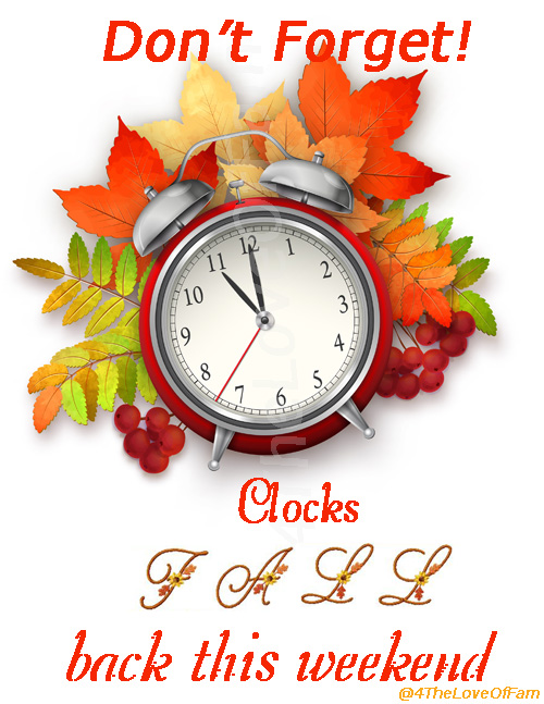 @4TheLoveOfFam Fall Back 2014 Daylight Saving Time (United States) 2014 ends