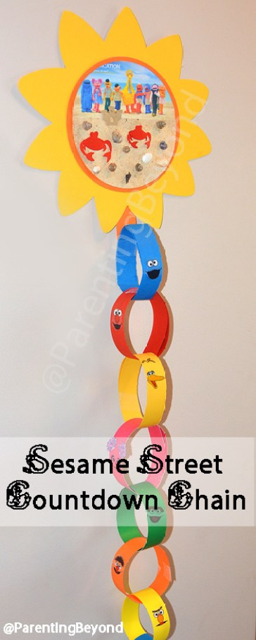 .@ParentingBeyond DIY #SesameStreet Countdown Chain + Free Sesame Street Printables Sesame Street