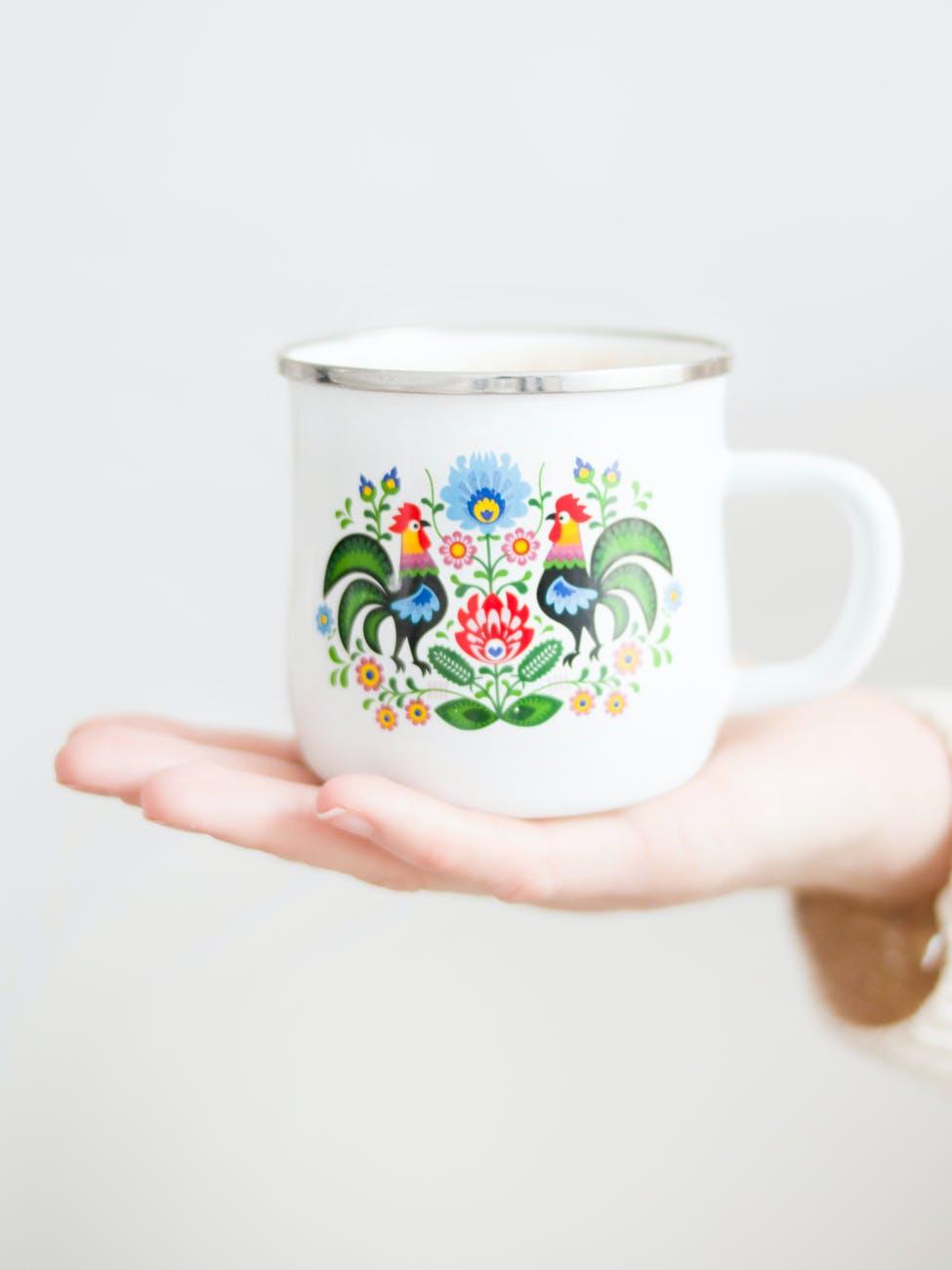close up photography of mug