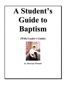 Studying Baptism with Your Child - Parenting Like Hannah