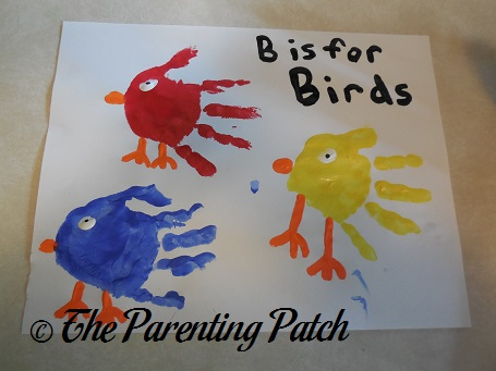 B Is for Birds Handprint Craft Parenting Patch