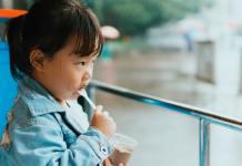 baby eating ice cream make blocked nose