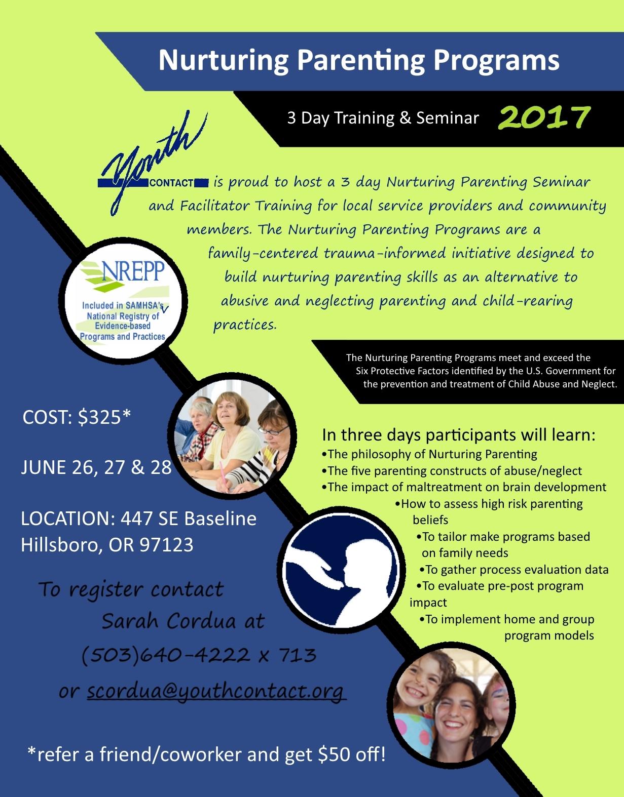 Nurturing Parenting Seminar Amp Facilitator Training