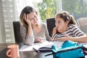 Stress devoirs maths
