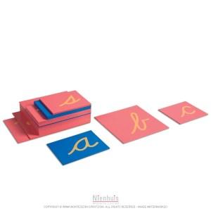 Lettres rugueuses Montessori Alvarez