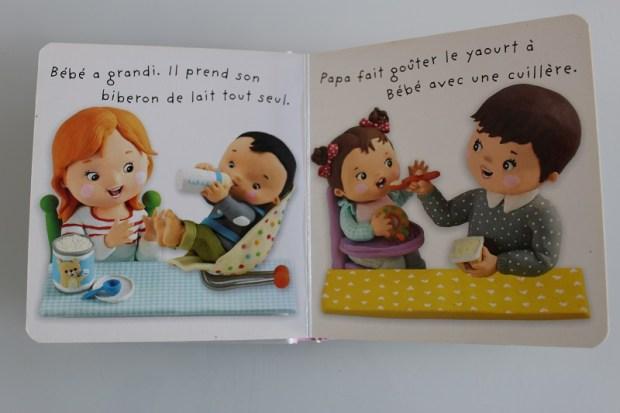 livre pour bébé avec biberon