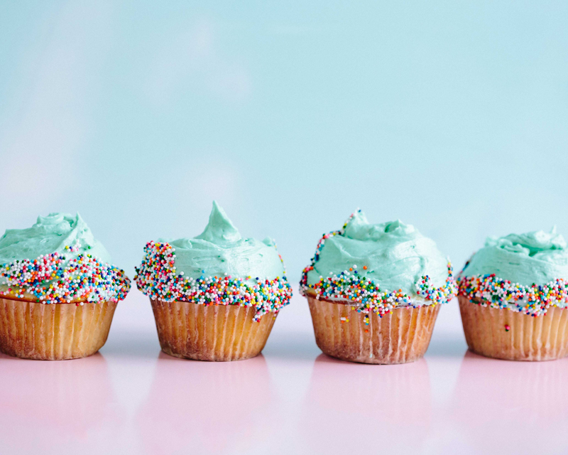friend struggling with porn -row of cupcakes