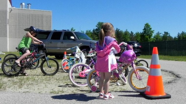 The bicycle rodeo was started locally by Pastor Bryan McInerney and the Kalkaska Church of the Nazerene. He said the feedback from the community has been overwhelmingly positive. Courtesy Photo.