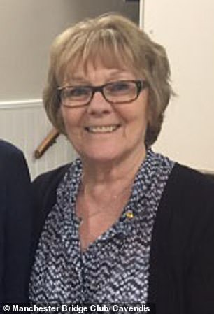 Grandmother Ann Thornton, 73, was found to be more than twice the alcohol limit after she was seen 'veering between lanes' near Manchester Airport at 9pm on February 8