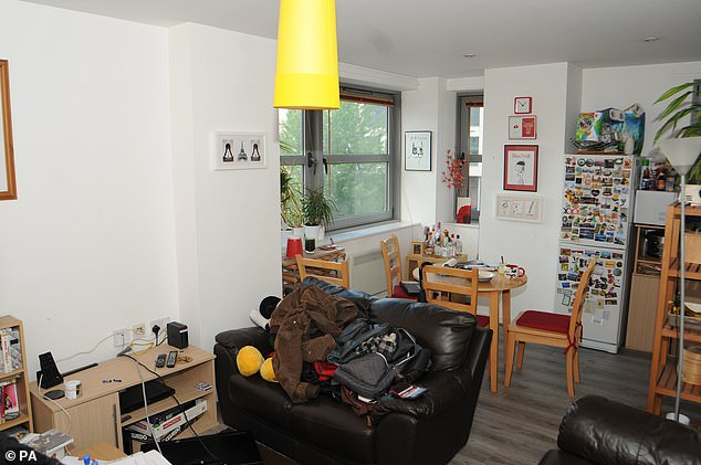 The living room at the home of Sinaga, who has been jailed at Manchester Crown Court for life