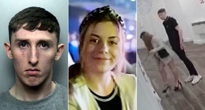 Joseph Trevor, left, was jailed for life for the rape and murder of Megan Newton, centre, after she offered him a place to sleep (SWNS)
