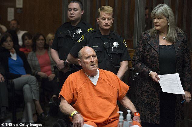 Joseph James DeAngelo, the suspected Golden State Killer, is arraigned in a Sacramento courtroom in april 2018