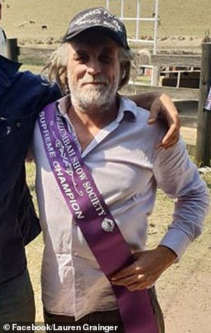 Mark 'Frosty' Frost with his Murwillumbah Show Society sash, was been charged with detaining with intent to obtain advantage