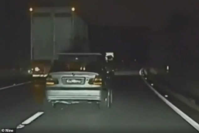 Dashcam footage of the moments prior to Mr Stott arriving on their farm show his silver BMW stopped dead in its tracks on the left hand lane of the M1
