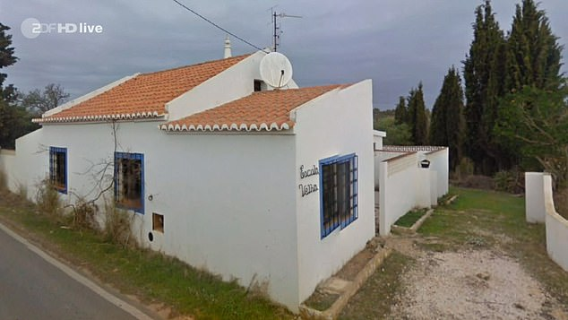 The suspect is said to have lived at this property named Escola Vehla - meaning 'old school' - during his time in Portugal