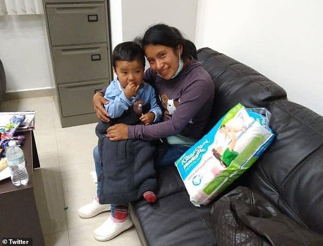 Juana Pérez (right) said her two-year-old son Dylan Gómez (left) was shocked when he saw her but that he recognized all of his loved ones