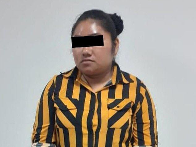 Margarita (pictured), the 23-year-old woman who was arrested Thursday by more than 100 agents who were searching for a two-year-old boy she allegedly abducted on June 30