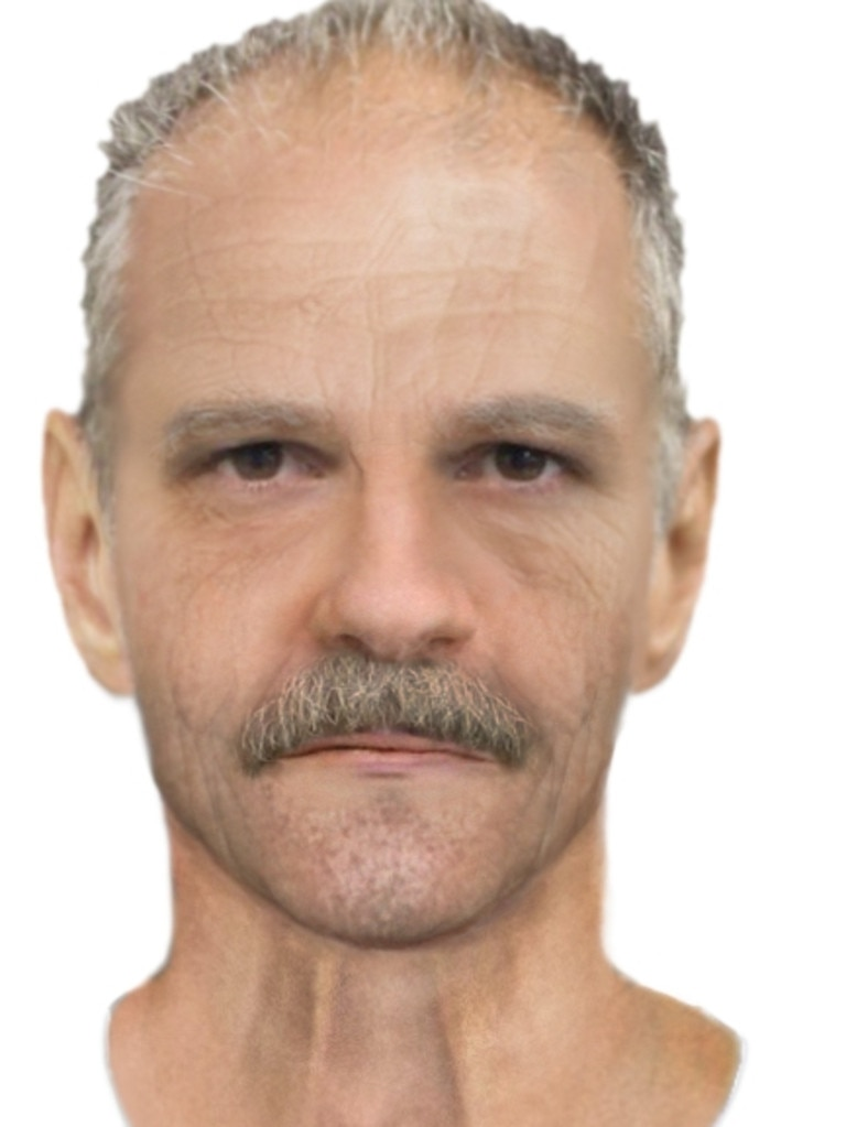 An aged image to represent what the suspect would look like in 2020.
