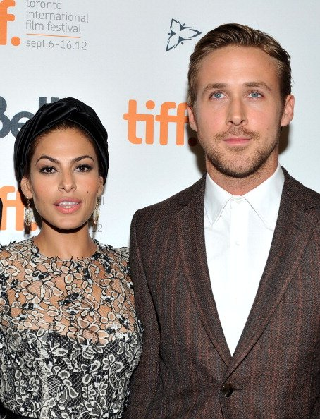 Eva Mendes and Ryan Gosling at Princess of Wales Theatre on September 7, 2012. | Photo: Getty Images