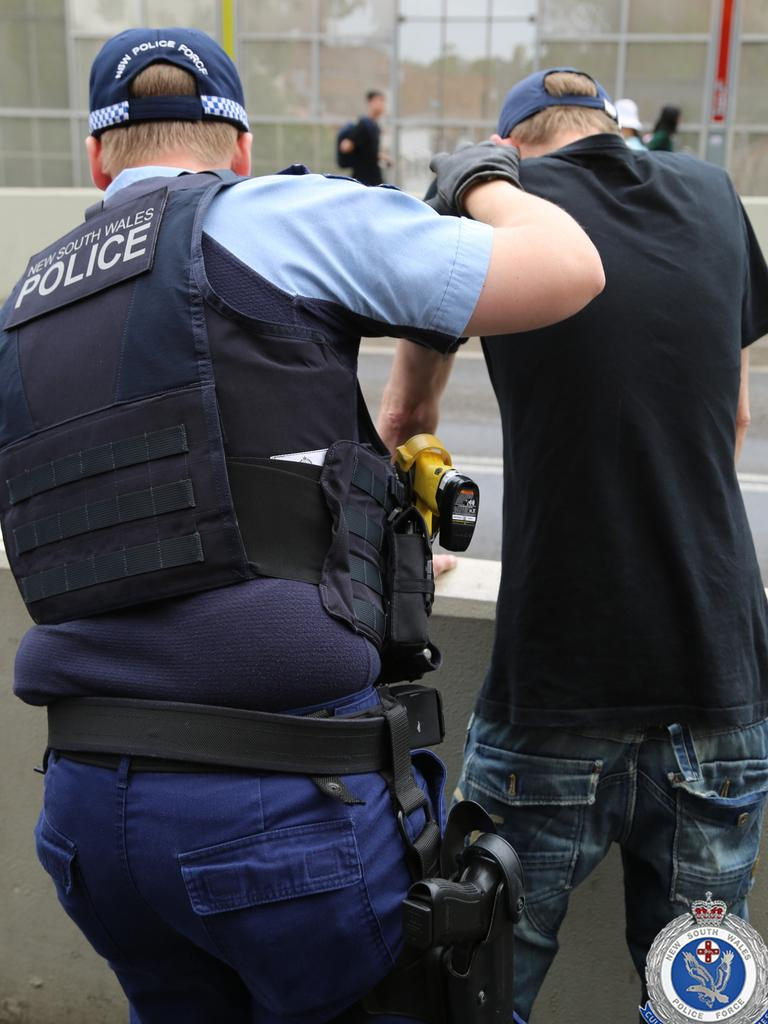 Police are running ongoing operations targeting people possessing knives and bladed weapons in public places and on transport networks in Sydney. Picture: NSW Police