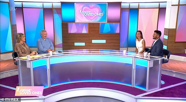 Guest stars: The Mysterious Girl hitmaker, 47, and his doctor wife, 31, joined Ruth Langsford and Eamonn Holmes, both 60, for a special edition of Loose Women on Wednesday