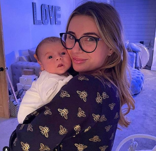 Dani Dyer and baby Santiago