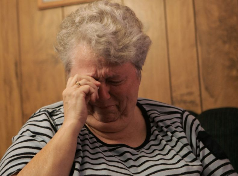 Glenda Whitson, grandmother of Amber Hagerman, breaks down Jan. 9, 2006 during an interview while reflecting on Amber's abduction and murder ten years earlier.