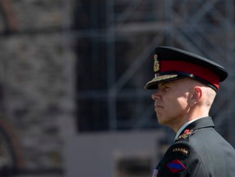 Lt.-Gen Wayne Eyre, pictured in 2019, praised Maj.-Gen. Peter Dawe, the head of Canadian special forces, as an outstanding leader despite Dawe giving a positive character reference to a soldier found guilty of sexual assault. THE CANADIAN PRESS/Adrian Wyld