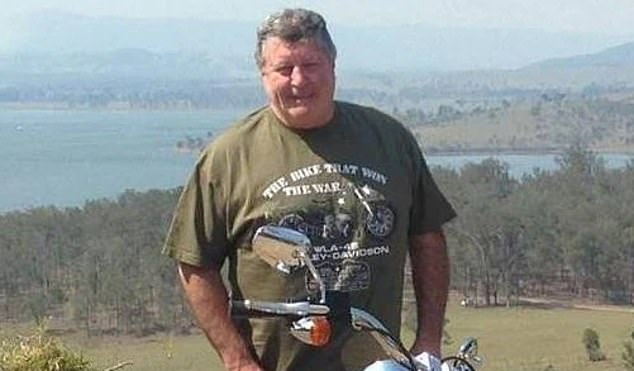 The bodies of Rodney Charles Eather (pictured) and his wife Joan Eather were found at their home in Morayfield, 45km north of Brisbane, last month