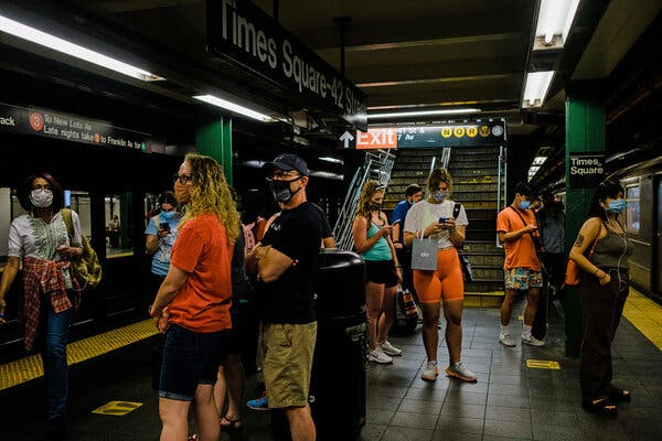 The pandemic and a hiring freeze have led to a shortage of train operators, conductors and workers in New York City, forcing thousands of subway trips to be canceled.