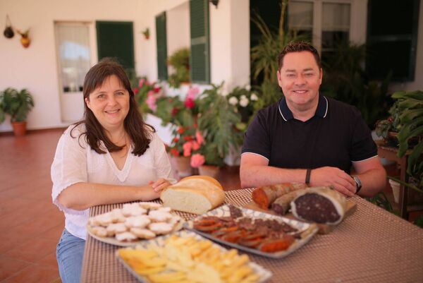 Neven Maguire with Lucía Pons at Son Piris, Menorca