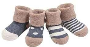 GRyiyi Unisex baby 4 Pair Boys Girls Warmer Cute Socks Turn Cuff