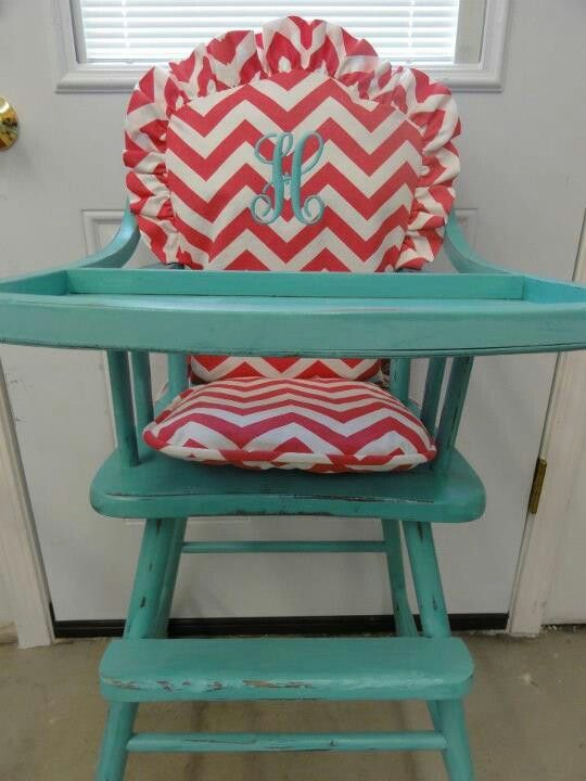 old high chair ideas phil and teds lobster make over parents of color seek newborn to adopt i like the chevron pattern with initial embroidered onto backrest