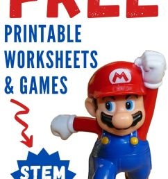 Nintendo Super Mario Bros Printable Worksheets \u0026 STEM Activities - Parent  Vault: Educational Resources [ 1102 x 735 Pixel ]