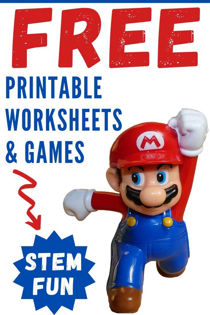 medium resolution of Nintendo Super Mario Bros Printable Worksheets \u0026 STEM Activities - Parent  Vault: Educational Resources