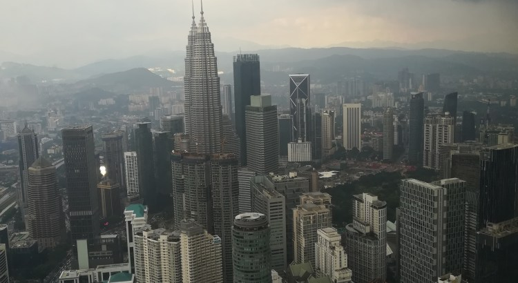 Vue KL Tower blog voyage