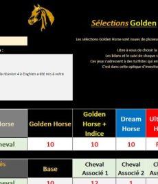 Sélections rentables Golden Horse