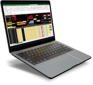 Gestion financière Bet'Winner sur ordinateur portable - Excel - Gagner au turf et aux paris sportifs - Pari-Gagnant.com