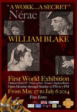William Blake Nerac France Exposition Premiere Mondiale Une Oeuv