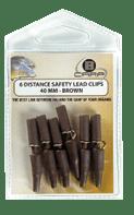 B-Carp Distance Safety Lead Clips 6 pcs – Brown