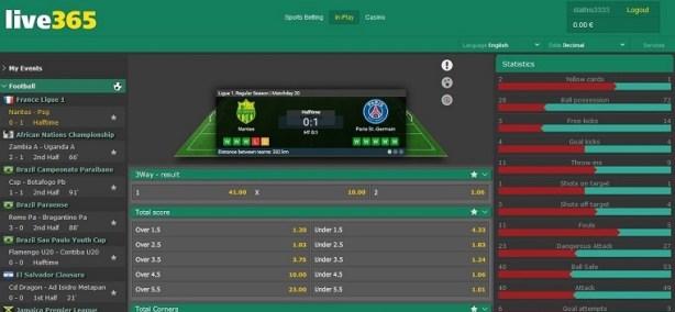 live betting live365