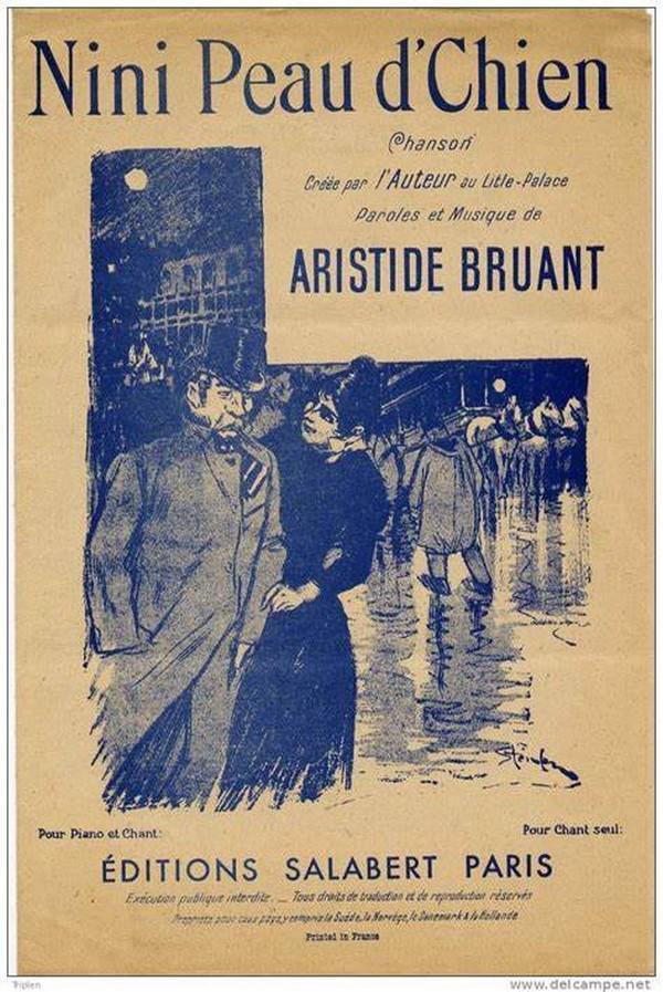 Aristide Bruant Nini Peau D'chien : aristide, bruant, d'chien, D'Chien, D'Aristide, Bruant, Interprétée, Mistigri, PARIS