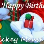 ミッキーの誕生日・限定イベントやスペシャルケーキも♪